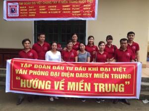 Tập Đoàn Đại Việt – Chung tay cùng đồng bào miền Trung vượt qua khó khăn